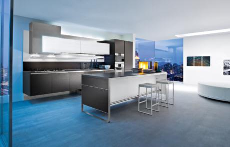 open space con cucina moderna ar tre
