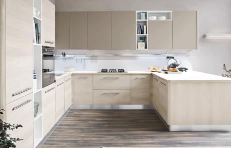 cucina moderna di ar-tre beige chiaro