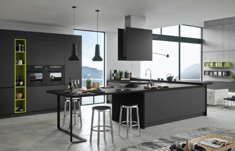 cucina moderna nero laccato modello silkki