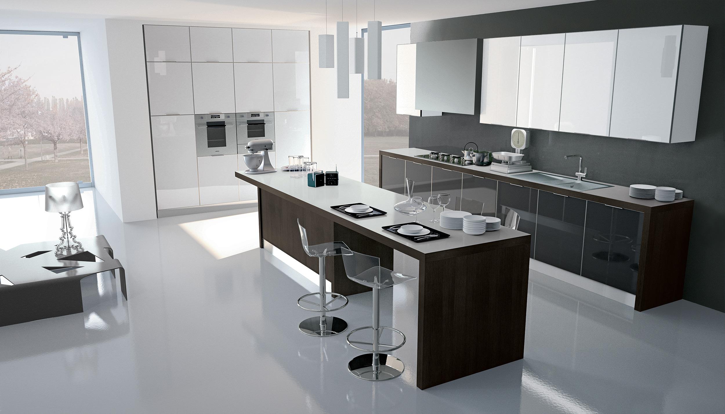 Cucina Bianca E Nera imac arredamenti - showroom di arredamento e cucine