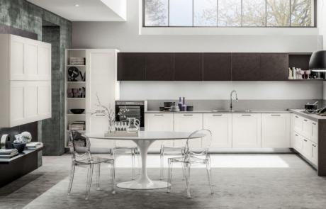 Cucina moderna arrex bianca e nera