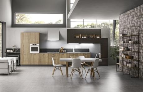 Cucina arrex modello iside in legno colore naturale