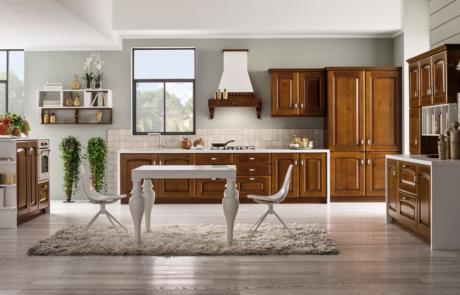 Cucina classica arrex in legno massello