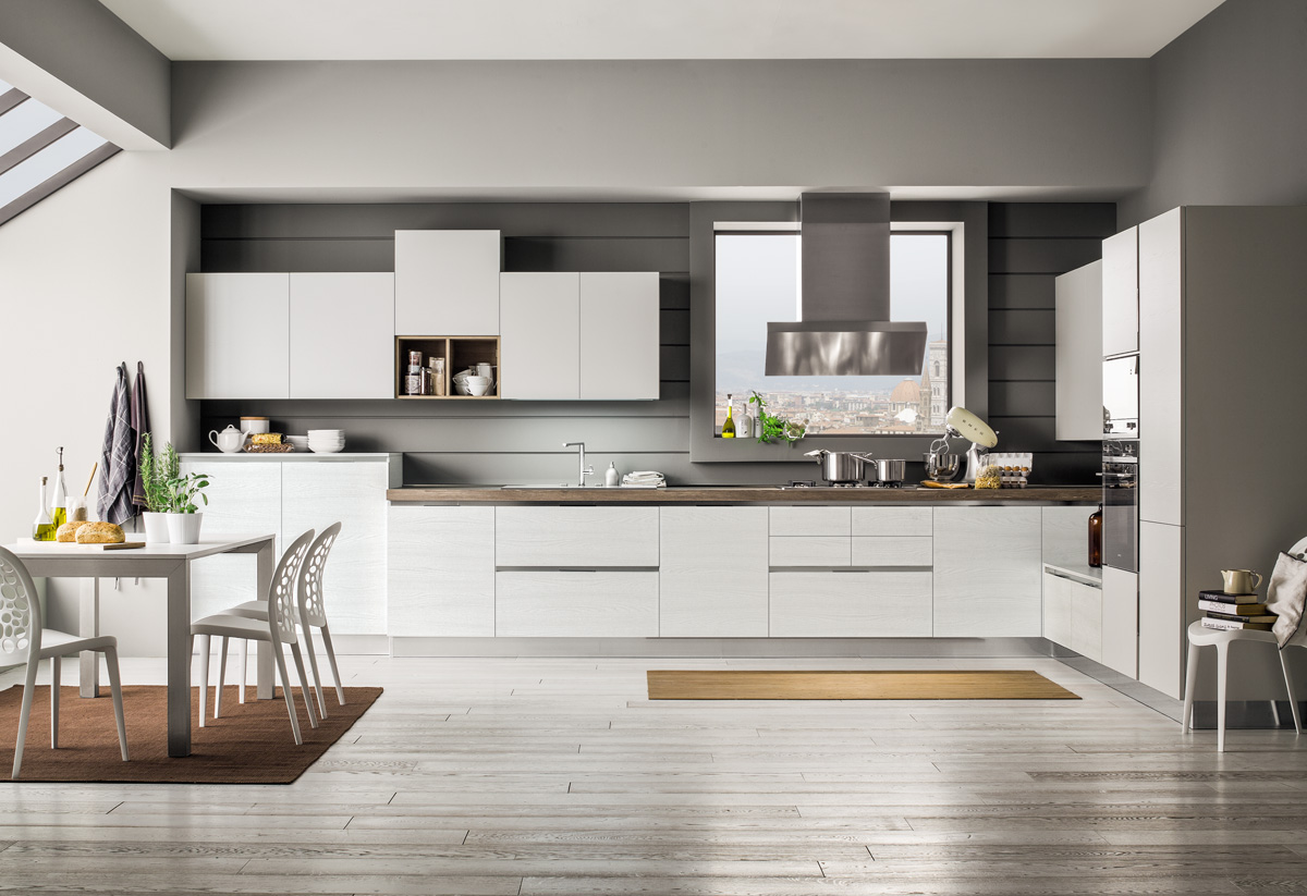 Cucina Moderna Bianca Laccata imac arredamenti - showroom di arredamento e cucine