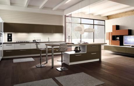 Cucina moderna arrex marrone